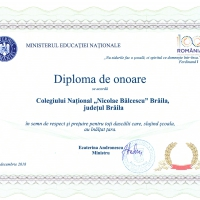 Diploma de onoare MEN 2018